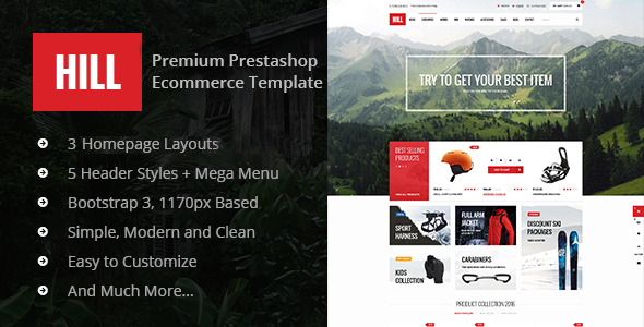 HILL Premium Prestashop Theme