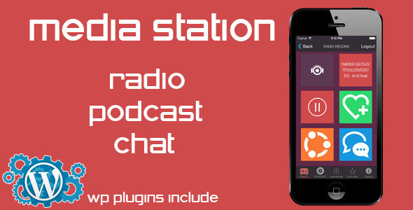 Media Station - Radio, Podcast, Chat - CodeCanyon Item for Sale