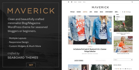 Maverick – A Responsive Blog and Magazine WordPress Theme