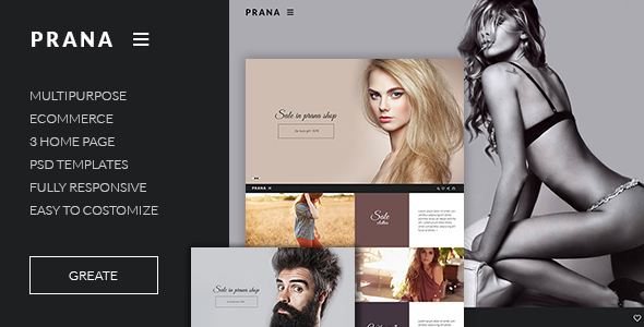 Prana – Ecommerce HTML template