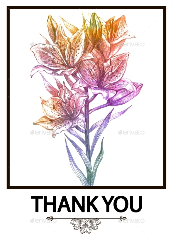 Floral Background or Card with Flowers - Flowers & Plants Nature