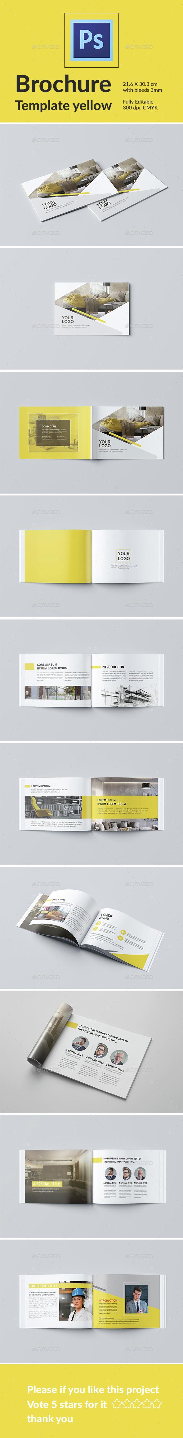 Brochure Template Yellow - Catalogs Brochures