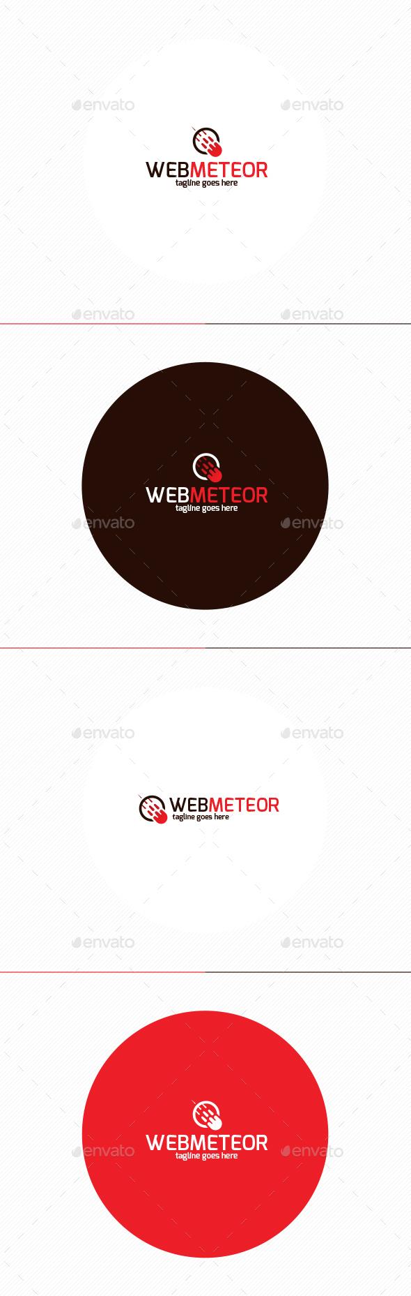 Web Meteor Logo - Vector Abstract