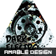 Dark Electro Party Flyer - GraphicRiver Item for Sale