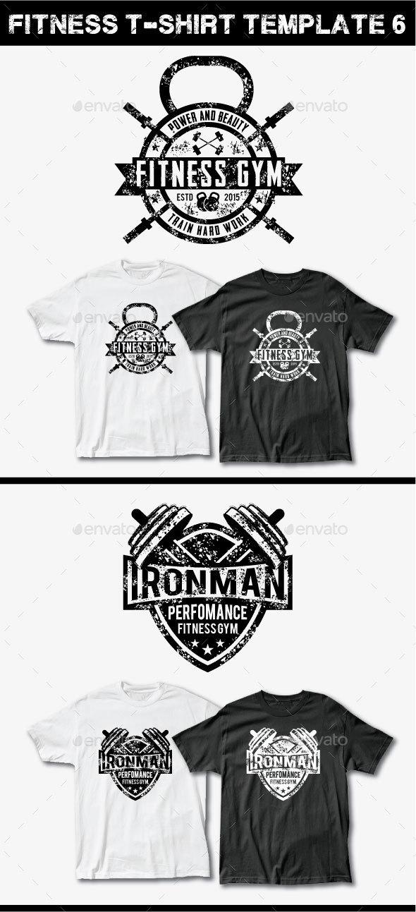 Fitness T-Shirt Template 6 - Grunge Designs