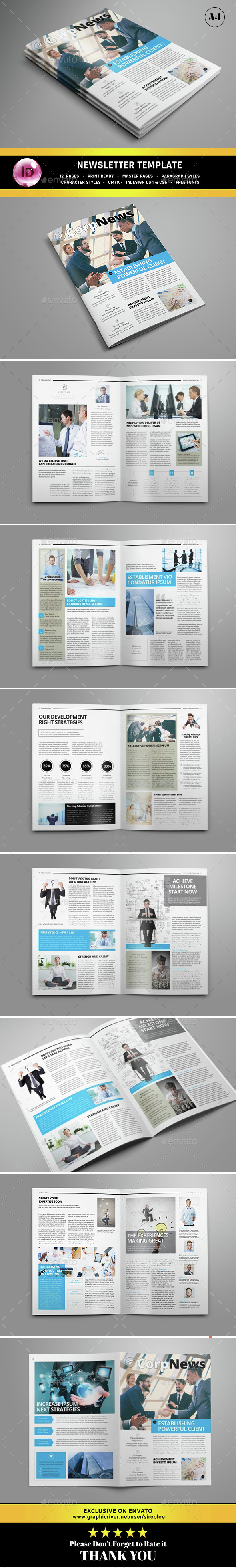 Corporate Newsletter - Newsletters Print Templates
