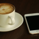 Using Smartphone and Drinking Coffee - VideoHive Item for Sale