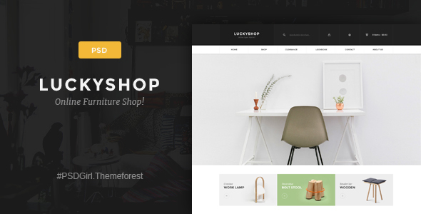 LuckyShop - Multi-Purpose PSD Template