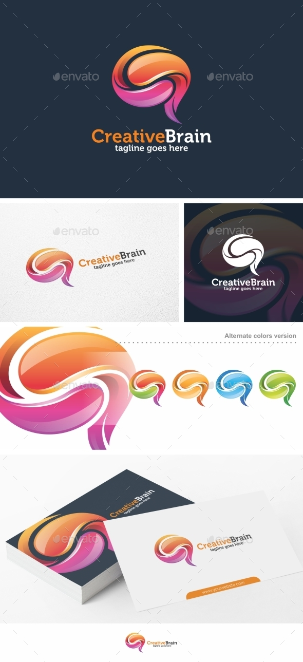 Creative Brain - Logo Template - Abstract Logo Templates
