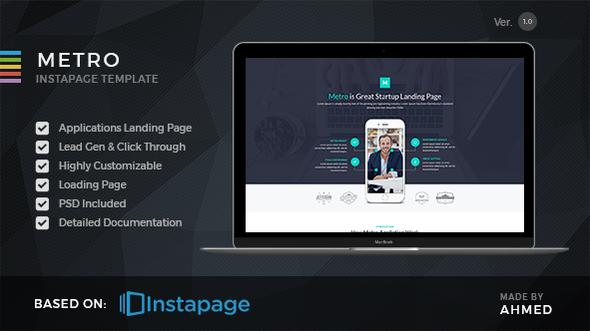 Metro App - Instapage Landing Page - Instapage Marketing