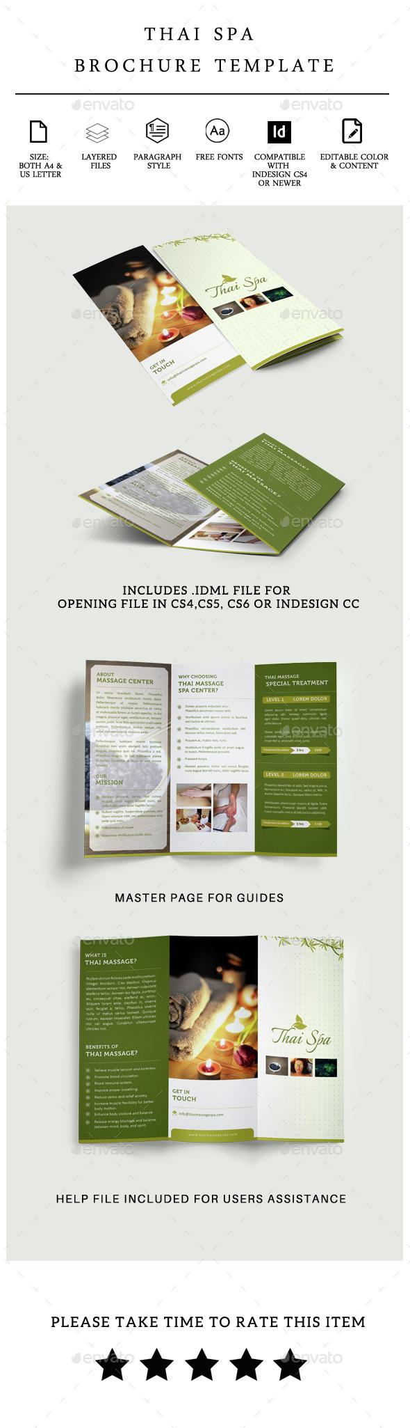 Thai Spa Tri-fold Brochure - Brochures Print Templates