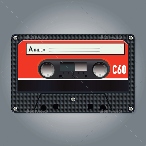 Vector Vintage Audiotape - Retro Technology