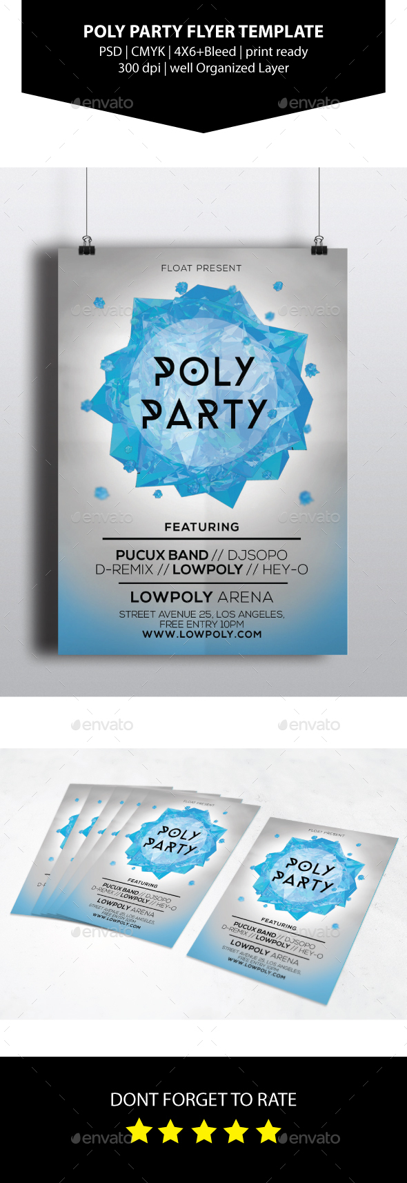 Poly Party Flyer Template - Events Flyers