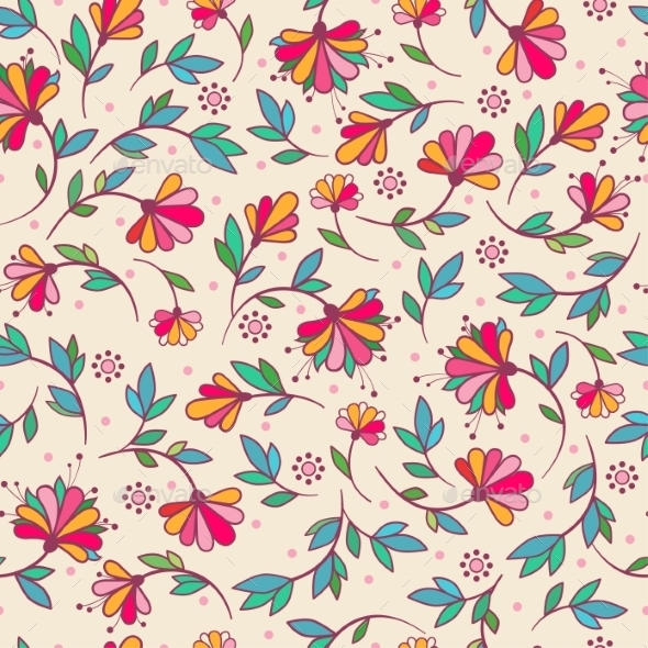 Floral Seamless Pattern. - Flowers & Plants Nature