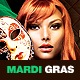 Mardi Gras Party Flyer v.4 - GraphicRiver Item for Sale