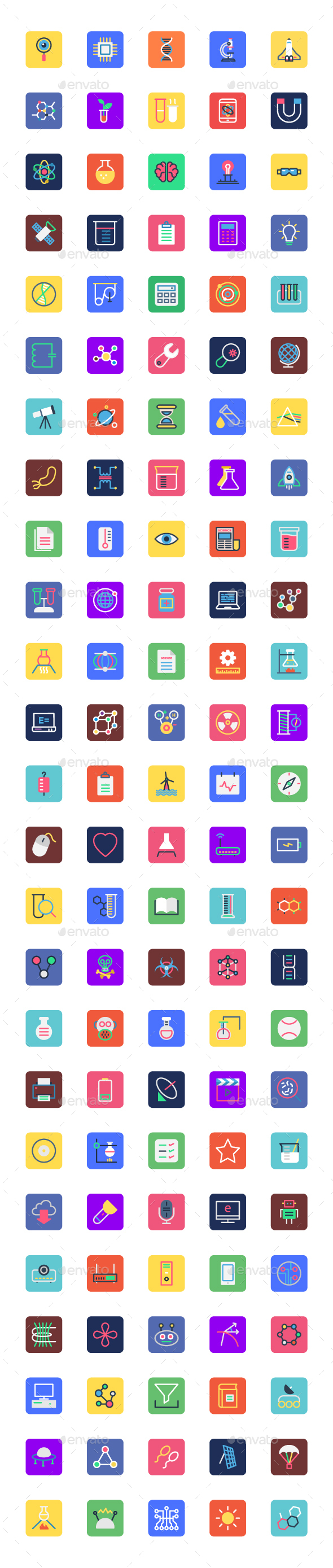 125 Science and Technology Icons Set - Icons