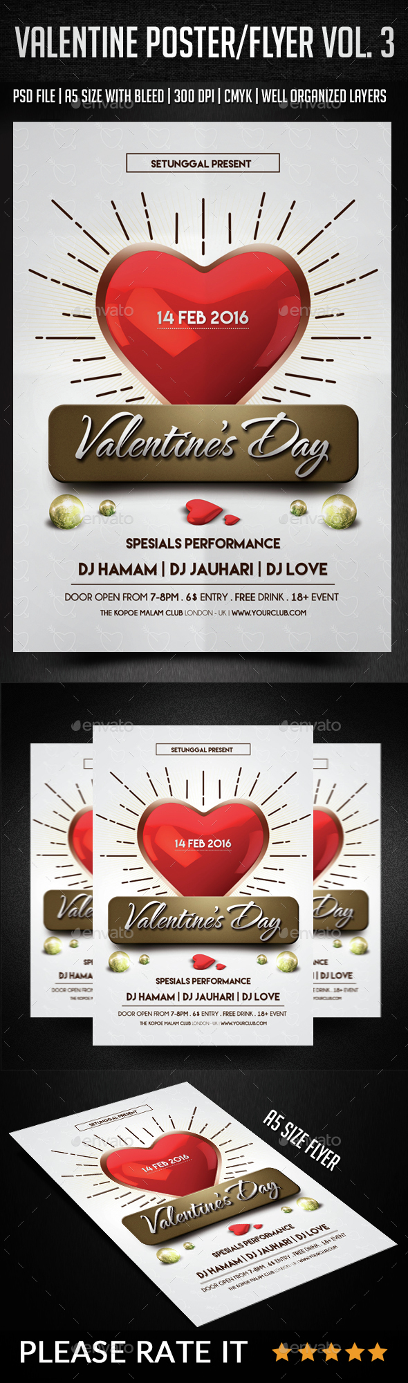 Valentine Poster Flyer Vol. 3 - Events Flyers