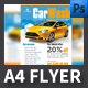 Car Wash A4 Flyer Template - GraphicRiver Item for Sale