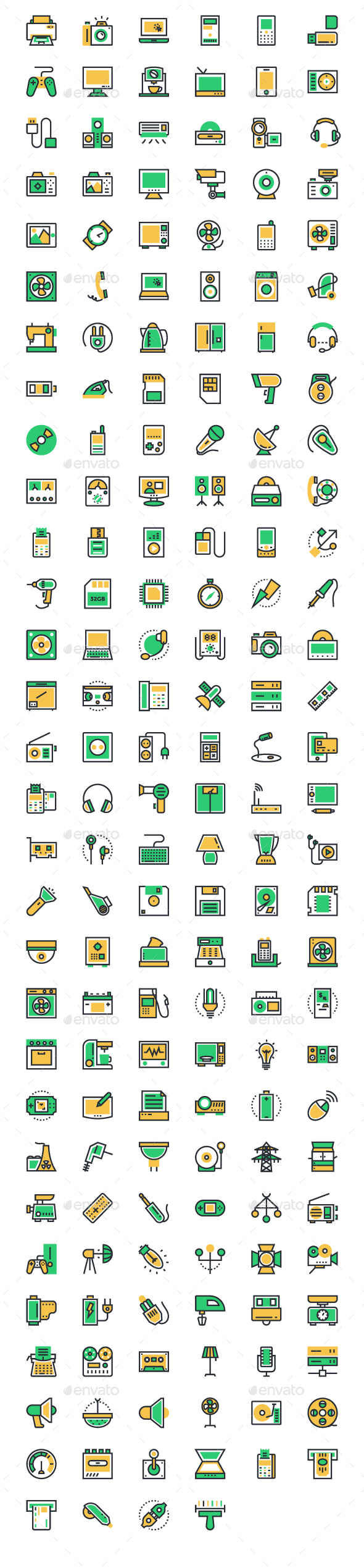 175+ Electronics Vector Icons - Objects Icons