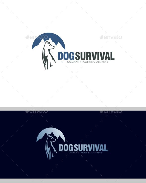Dog Survival Logo - Animals Logo Templates