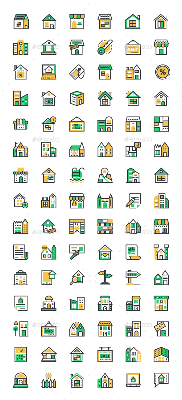 90 Real Estate or Property Icons - Icons