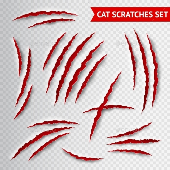 Cat Scratches Transparent - Miscellaneous Vectors