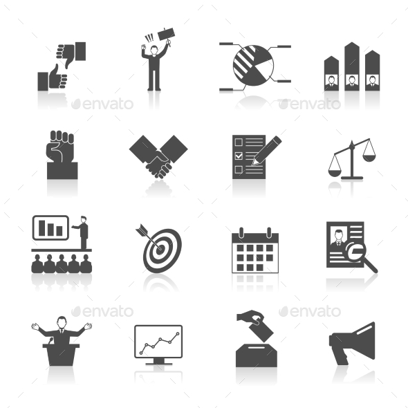 Election Icons Set - Business Icons