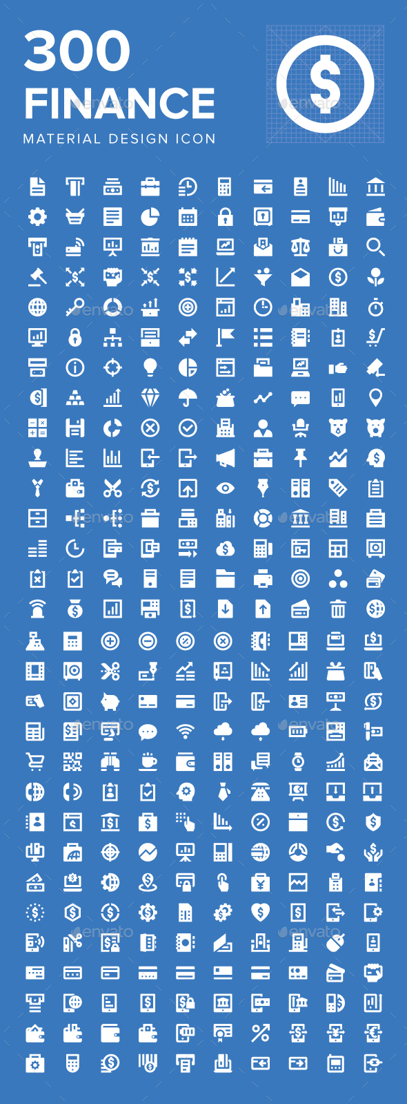 300 Finance Material Design Icons - Business Icons
