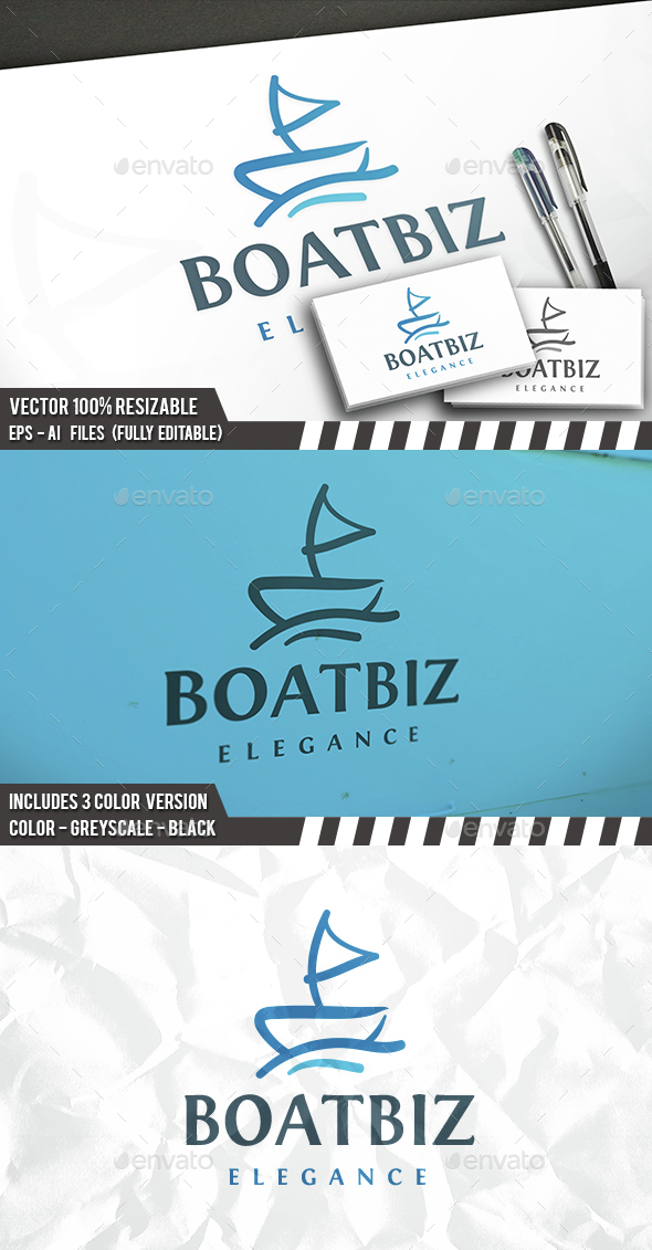 Boat Logo - Objects Logo Templates