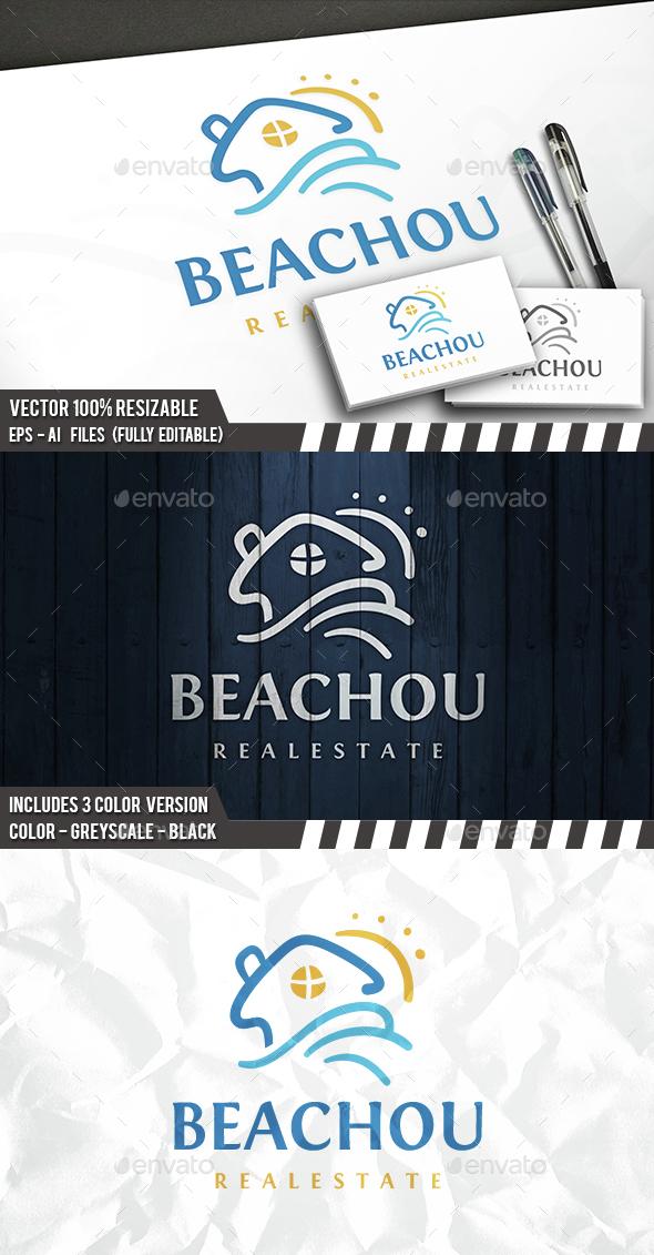 Beach Estate Logo - Buildings Logo Templates