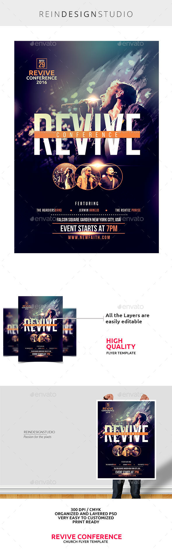 Revive Conference Church Flyer - Church Flyers