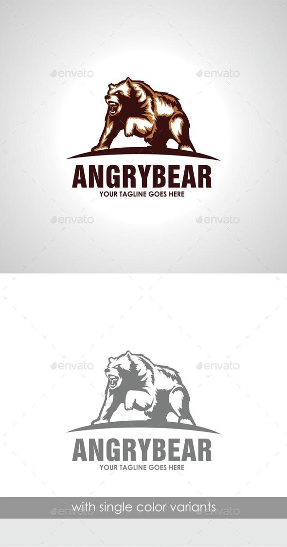 Angry Bear Logo - Animals Logo Templates