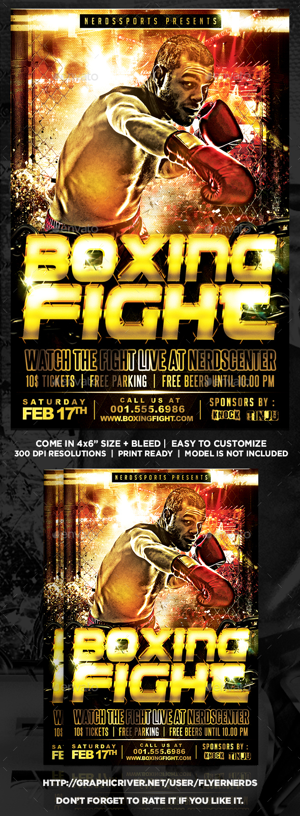 Boxing Championships Sports Flyer - Sports Events