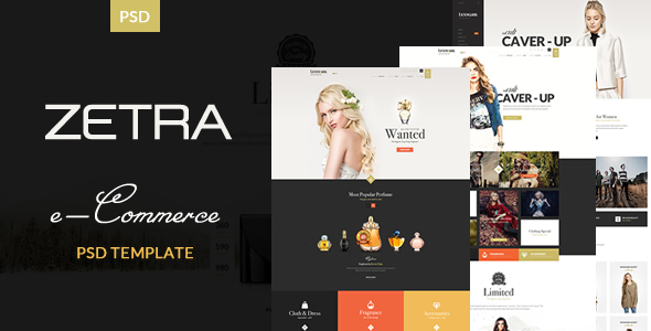 Zetra - eCommerce PSD Template - Retail PSD Templates