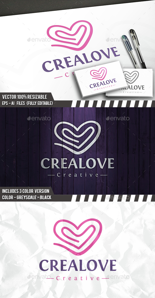 Love Wave Logo - Symbols Logo Templates