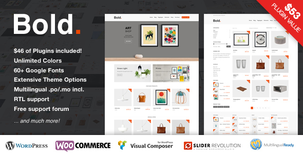 Bold. – A responsive WordPress & WooCommerce Theme