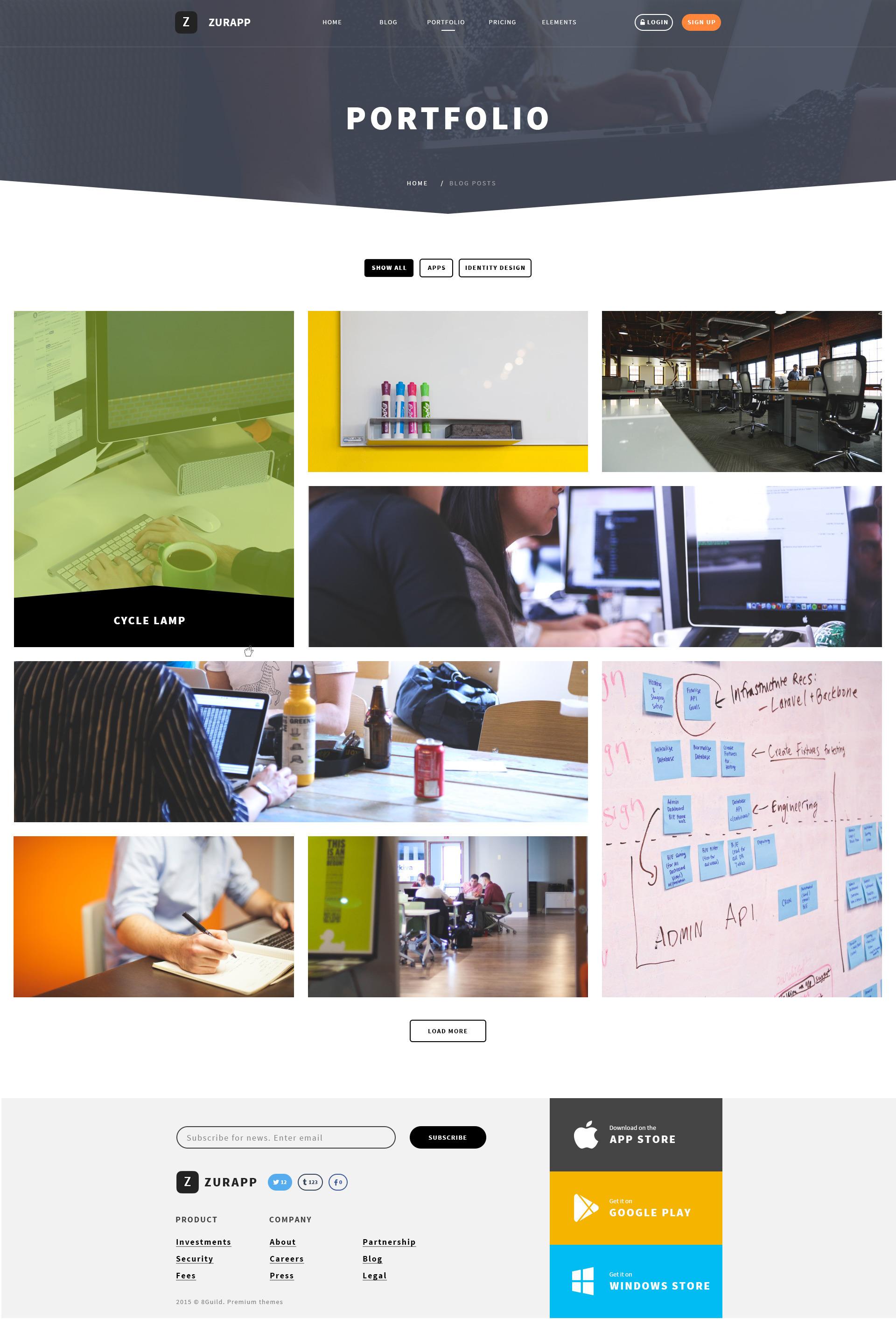 ZurApp - Multiconcept App Showcase Joomla Template by saihoai ...