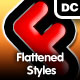 9 Various Flattened Styles - GraphicRiver Item for Sale