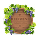 Grapes and Wooden Barrel - GraphicRiver Item for Sale