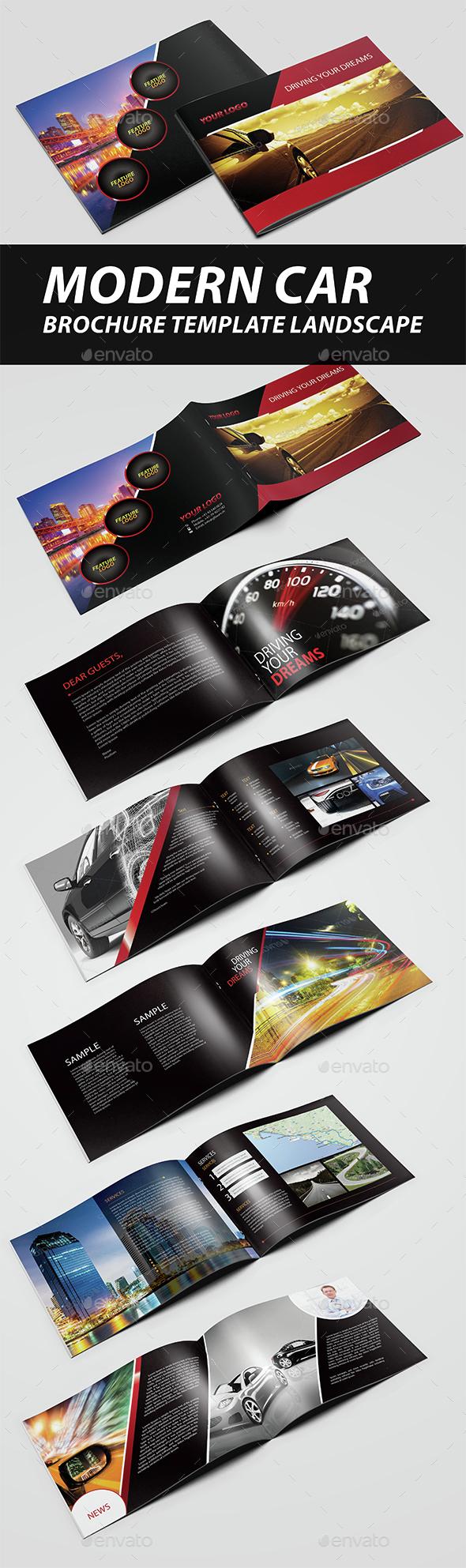 Modern Car Brochure Landscape - Brochures Print Templates