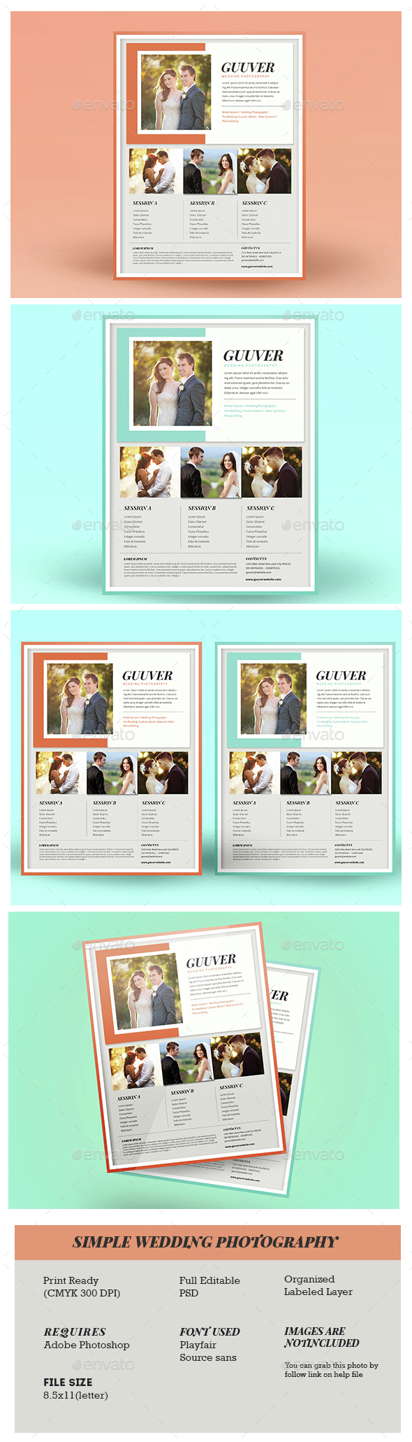 Simple Wedding Photography - Corporate Flyers
