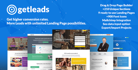 Getleads – Landing Page Pack with Page Builder