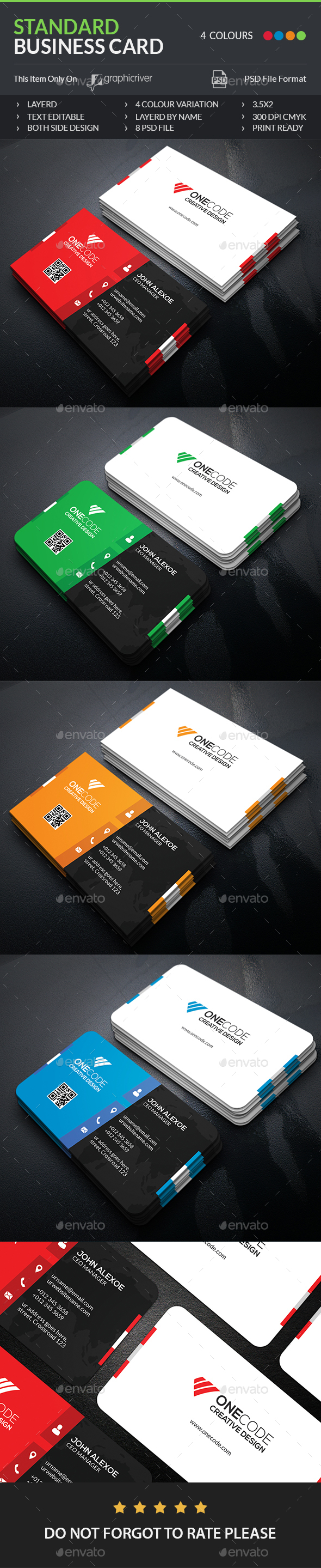 Standard Business Card - Creative Business Cards