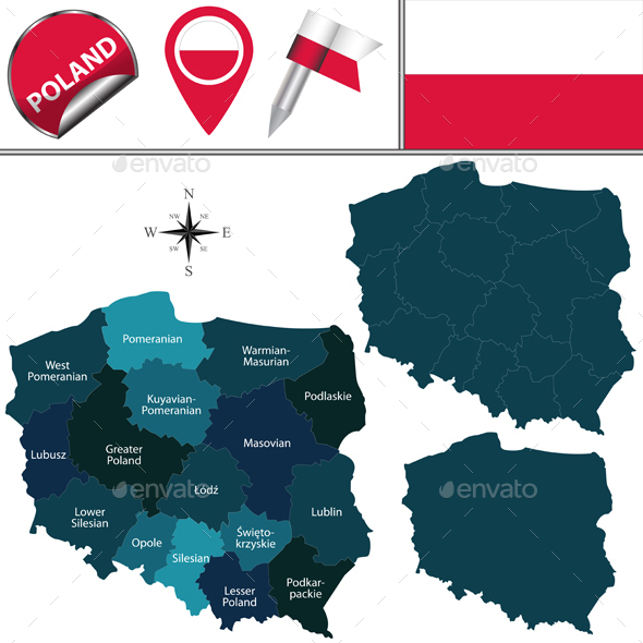 Map of Poland - Travel Conceptual