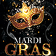 Mardi Gras Party Flyer Template 2 - GraphicRiver Item for Sale
