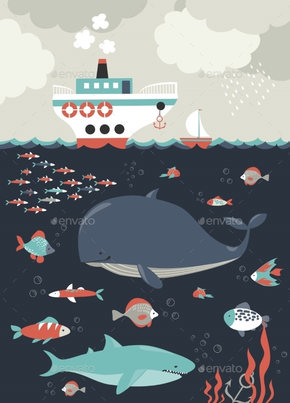 Sea Life. Underwater World - Nature Conceptual