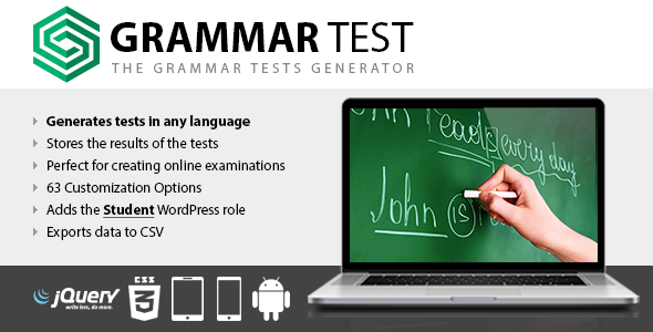Grammar Test - CodeCanyon Item for Sale
