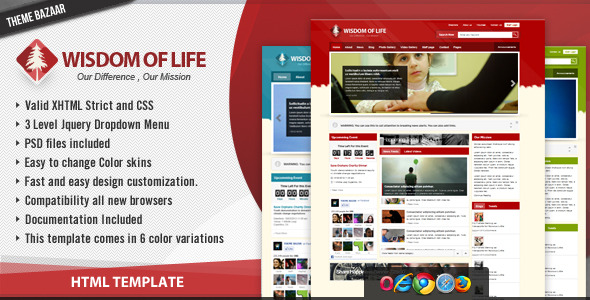 Free Download Wisdom of Life - HTML Template + PHP Contact Form Nulled Latest Version