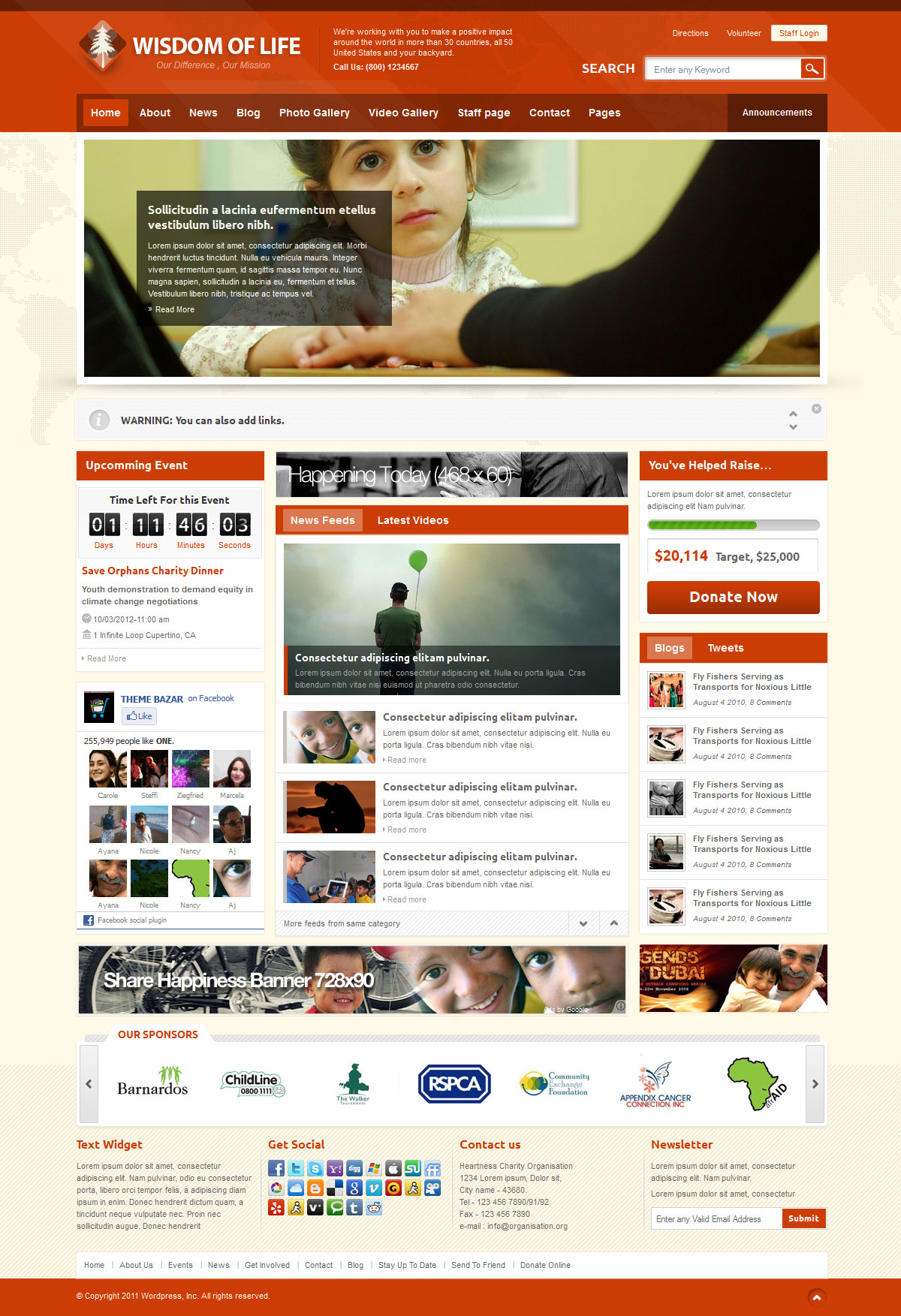 Wisdom of Life - HTML Template + PHP Contact Form by themebazaar ...
