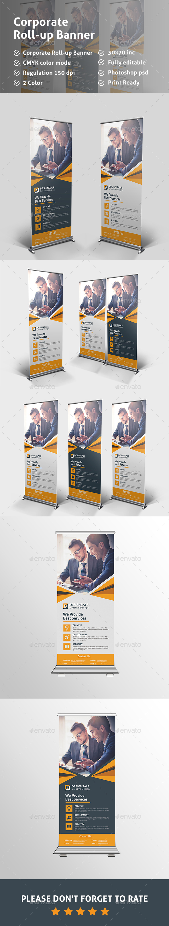 Corporate Roll-up Banner - Signage Print Templates